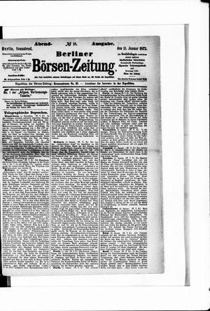 Berliner Börsen-Zeitung vom 11.01.1873