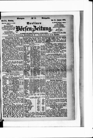 Berliner Börsen-Zeitung vom 12.01.1873