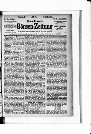 Berliner Börsen-Zeitung vom 13.01.1873