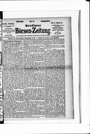 Berliner Börsen-Zeitung vom 14.01.1873