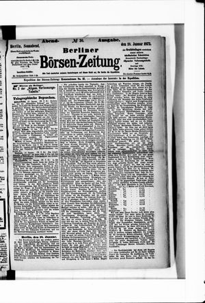 Berliner Börsen-Zeitung vom 18.01.1873