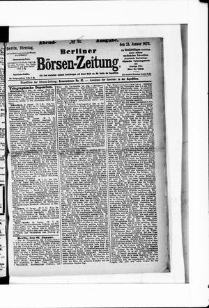 Berliner Börsen-Zeitung vom 21.01.1873