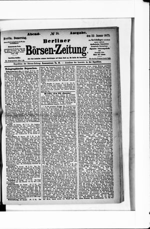 Berliner Börsen-Zeitung vom 23.01.1873