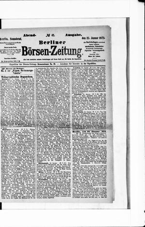 Berliner Börsen-Zeitung vom 25.01.1873