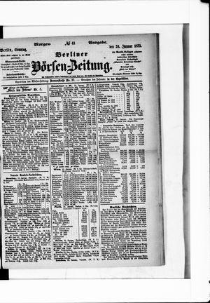 Berliner Börsen-Zeitung vom 26.01.1873