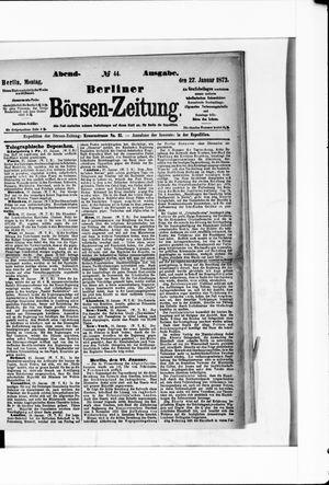 Berliner Börsen-Zeitung vom 27.01.1873