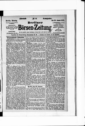 Berliner Börsen-Zeitung vom 28.01.1873