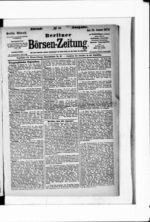 Berliner Börsen-Zeitung vom 29.01.1873