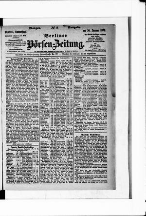 Berliner Börsen-Zeitung vom 30.01.1873