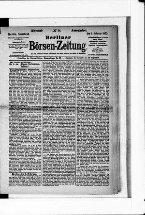 Berliner Börsen-Zeitung vom 01.02.1873