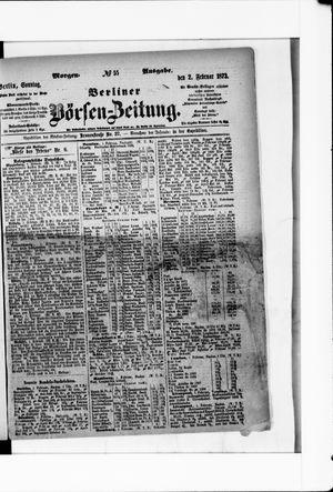 Berliner Börsen-Zeitung vom 02.02.1873