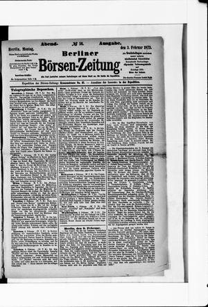Berliner Börsen-Zeitung vom 03.02.1873
