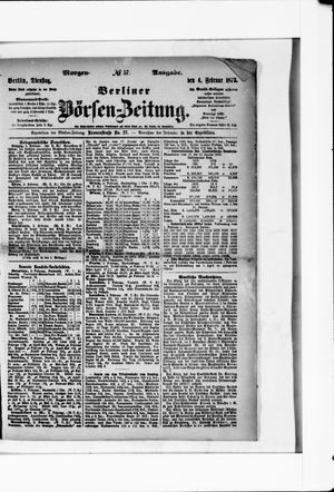 Berliner Börsen-Zeitung vom 04.02.1873