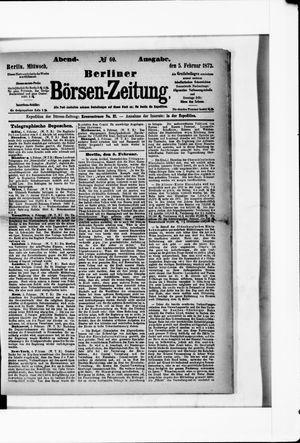 Berliner Börsen-Zeitung vom 05.02.1873