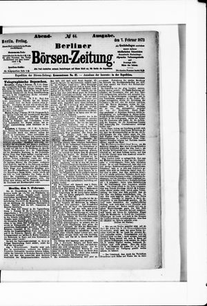 Berliner Börsen-Zeitung vom 07.02.1873