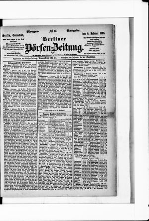 Berliner Börsen-Zeitung vom 08.02.1873