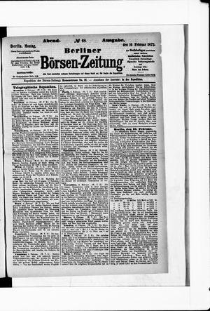 Berliner Börsen-Zeitung on Feb 10, 1873