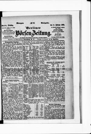 Berliner Börsen-Zeitung vom 11.02.1873