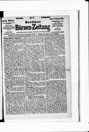 Berliner Börsen-Zeitung vom 12.02.1873