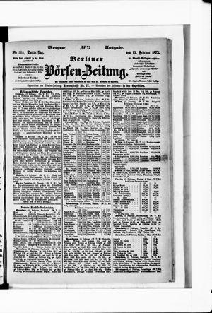 Berliner Börsen-Zeitung on Feb 13, 1873