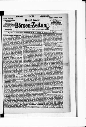 Berliner Börsen-Zeitung on Feb 14, 1873