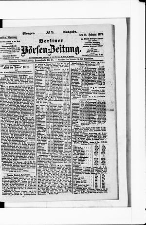 Berliner Börsen-Zeitung vom 16.02.1873