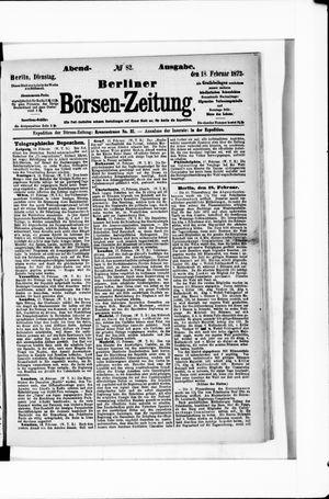 Berliner Börsen-Zeitung vom 18.02.1873