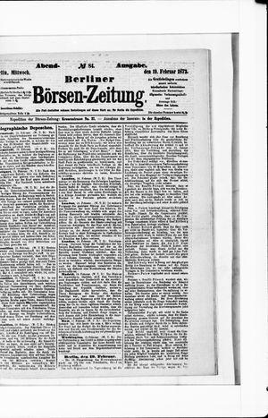 Berliner Börsen-Zeitung vom 19.02.1873