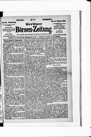 Berliner Börsen-Zeitung vom 20.02.1873