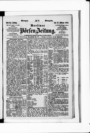 Berliner Börsen-Zeitung vom 21.02.1873