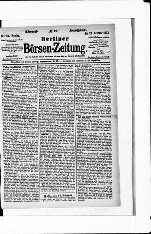 Berliner Börsen-Zeitung vom 24.02.1873