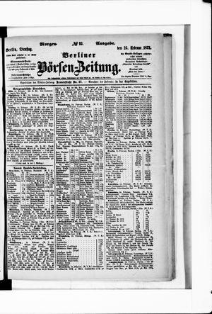 Berliner Börsen-Zeitung vom 25.02.1873