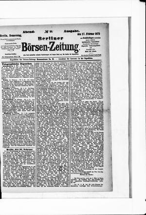 Berliner Börsen-Zeitung vom 27.02.1873