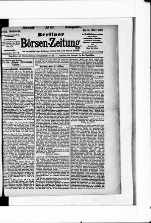 Berliner Börsen-Zeitung vom 15.03.1873
