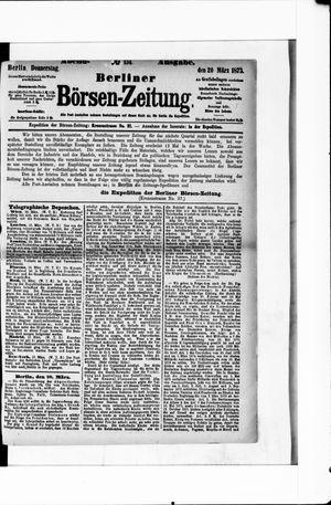 Berliner Börsen-Zeitung vom 20.03.1873