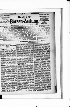 Berliner Börsen-Zeitung vom 22.03.1873