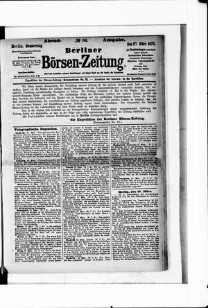 Berliner Börsen-Zeitung vom 27.03.1873