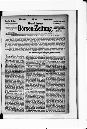 Berliner Börsen-Zeitung vom 28.03.1873