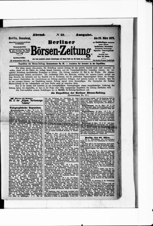 Berliner Börsen-Zeitung vom 29.03.1873