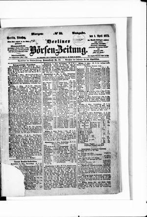 Berliner Börsen-Zeitung vom 01.04.1873