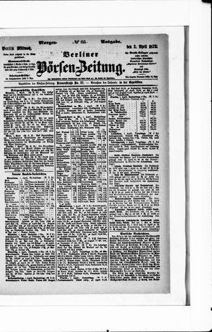 Berliner Börsen-Zeitung vom 02.04.1873