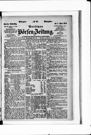 Berliner Börsen-Zeitung vom 03.04.1873