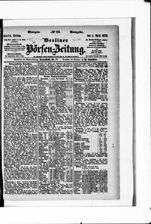 Berliner Börsen-Zeitung vom 04.04.1873