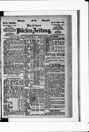 Berliner Börsen-Zeitung vom 10.04.1873