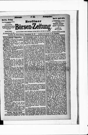Berliner Börsen-Zeitung vom 18.04.1873