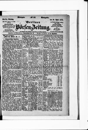 Berliner Börsen-Zeitung vom 20.04.1873