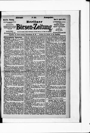 Berliner Börsen-Zeitung vom 21.04.1873