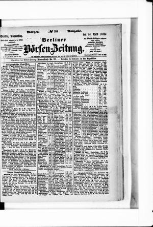 Berliner Börsen-Zeitung vom 24.04.1873