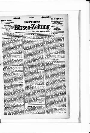 Berliner Börsen-Zeitung vom 28.04.1873