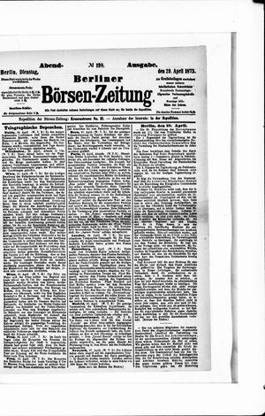 Berliner Börsen-Zeitung on Apr 29, 1873